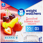 Weight Watchers Summer Fruit Yogurts 4x110g Cherry