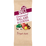Deli 24 Continental Salami & Gouda 3 Single Snacks 60g
