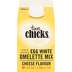 Two Chicks Free Range Egg White Omelette Mix Cheese Flavour 400g