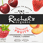 Rachel's Organic Luscious Fruits Naturally Bio-Live Yogurt 4 x 110g (440g)