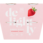 Dale Farm Delightly Greek Style Strawberry Yogurt 4 x 120g (480g)