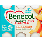 Benecol Peach & Apricot No Added Sugar Yogurt Drink 6 x 67.5g (405g)