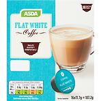 Calories In Asda Flat White Coffee Pods 16 X 117g 1872g