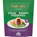 Holland's 4 Steak & Kidney Puddings