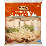 Humza Food Products 15 Sheesh Kebab Chicken Rolls 380g