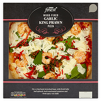 Calories In Tesco Finest Wood Fired Garlic King Prawn Pizza