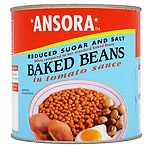 Ansora Reduced Sugar and Salt Baked Beans in Tomato Sauce 2.61kg