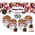 Haagen-Dazs Chocolate Drizzle Gelato Mini Cup Collection 4 x 95ml