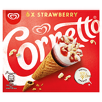 Cornetto Strawberry Ice Cream Cone 6 x 90ml