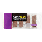 Classic Cakes 5 Chocolate Slices 100g