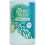 John West Tuna Chunks in Spring Water 4 x 145g