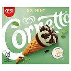 Cornetto Mint Ice Cream Cone 6 x 90ml