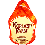 Norland Farm Frozen Oven Ready Basted Turkey with Giblets Medium 5.0 - 5.8kg