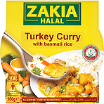 Zakia Halal Turkey Curry with Basmati Rice 300g