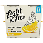 Light & Free Lemon 0% Fat & 0% Added Sugar Yogurt 4 x 115g