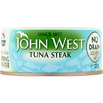 John West No Drain Tuna Steak with a Little Spring Water 120g