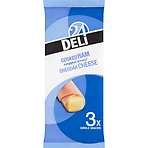 Deli 24 Cooked Ham Wrapped Around Cheddar Cheese 3 Single Snacks 75g