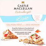 Castle MacLellan Light Salmon Pâté with Red Pepper 100g