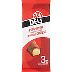 Deli 24 Pepperoni Wrapped Around Cheddar Cheese 3 Single Snacks 75g