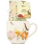 Royal Horticultural Society Mug, Coffee & Biscuits Gift Set Fruit and Lemon Biscuits