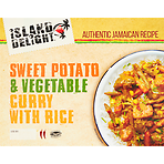Island Delight Sweet Potato & Vegetable Curry with Rice 400g
