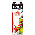 The Cracker Drinks Co Apple, Strawberry & Cranberry Fruit Juice Drink 1 Litre