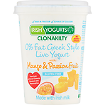 Irish Yogurts Clonakilty 0% Fat Greek Style Live Yogurt with Mango & Passion Fruit 450g
