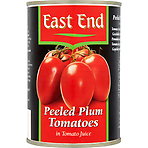 East End Peeled Plum Tomatoes in Tomato Juice 400g