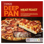 Calories In Tesco Deep Pan Meat Feast Pizza 391g Nutrition
