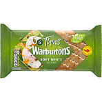 Warburtons 6 Thins Soft White Sliced
