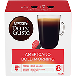 Nescafe Dolce Gusto Americano Bold Morning Coffee Pods 16 Capsules Per Box