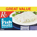 Ross 4 Fish Steaks in Parsley Sauce 560g