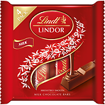 Calories In Lindt Lindor Milk Chocolate Bars 4 X 25g