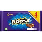 Calories In Cadbury Boost Chocolate Bar 4 Pack 136g