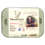 Wood Farm Free Range Eggs 6 Medium