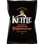 KETTLE Chips Sea Salt & Crushed Black Peppercorns 40g