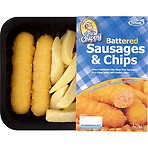 TS Foods Tony's Chippy Battered Sausages & Chips 320g
