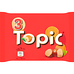 Calories In Topic Chocolate Bars Multipack 3 X 47g 141g