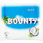 Bounty Coconut Milk Chocolate Duo Bars Multipack 4 x 57g