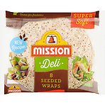 Mission Deli 8 Super Soft Seeded Wraps