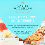 Castle MacLellan Luxury Orkney Crab Terrine with Lemon Juice and Mustard 100g