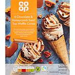 Calories In Co Op Chocolate Honeycomb Swirl Top Waffle