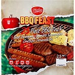 Sizzlerz BBQ Feast 25 Piece BBQ Pack 2.5kg Beef Burgers with Onion and Seasoning