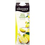 The Cracker Drinks Co Still & Cloudy Lemonade Fruit Juice Drink 1 Litre