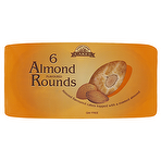 Country Garden Cakes 6 Almond Flavoured Rounds