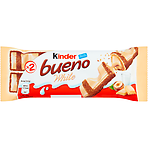 Kinder Bueno White Chocolate and Hazelnuts Single Bars 2 x 19.5g (39g)