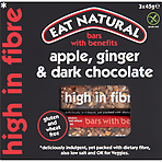Eat Natural Bars with Benefits Apple, Ginger & Dark Chocolate 3 x 45g