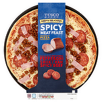 Calories In Tesco Deep Delicious Spicy Meat Feast Pizza
