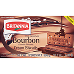 Britannia The Original Bourbon Chocolate Flavoured Cream Biscuits 5 Packs 390g