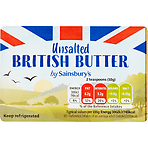 Sainsbury's Unsalted English Butter 250g